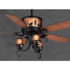 Rustic Ceiling Fans Outdoor Western