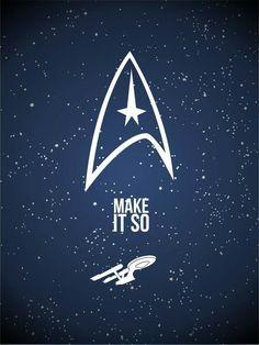 Star Trek: Favorite poster yet! Nave Enterprise, Star Trek Ships, Star Trek Universe, Big Bang, Across The Universe, Love Stars, Sci Fi Fantasy, Live Long, The Life