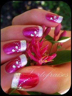 tartofraises nail art by Tartofraises, via #Creative Nails| http://creativenails.lemoncoin.org