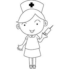 Most kids do not look forward to a hospital! However, the nurses present in the hospital makes them comfortable. Find 10 free printable nurse coloring pages Online Coloring Pages, Animal Coloring Pages, Coloring Book Pages, Coloring Pages For Kids, Drawing For Kids, Art For Kids, Nurse Drawing, Nurse Art, Rangoli Border Designs