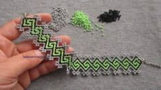 Patterned Bracelet Making Bead Embroidery Tutorial, Bead Embroidery Patterns, Bead Embroidery Jewelry, Beading Patterns, Beaded Braclets, Beaded Bracelets Tutorial, Seed Bead Tutorials, Beading Tutorials, Beaded Necklace Patterns