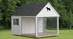 If I had the extra cash i'd love to do this for Mack. Then I could leave him outside more!  Dog Kennel Castle