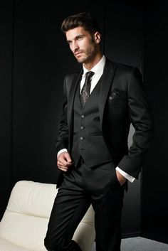 Gender: Men Item Type: Suits Front Style: Pleated Model Number: tuxedos Fit Type: Skinny Pant Closure Type: Zipper Fly Material: Cotton,Wool Closure Type: Single Breasted Clothing Length: Regular Gend