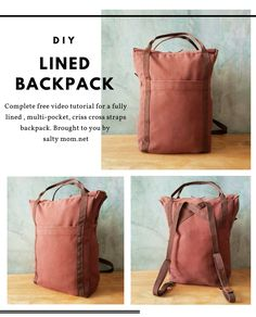 How to sew a Lined Backpack