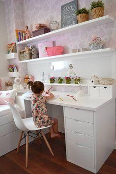Piso en el Eixample de Barcelona: Dormitorios infantiles de estilo clásico de Thinking Home Kids Bedroom Designs, Room Design Bedroom, Small Room Bedroom, Home Room Design, Kids Room Design, Home Office Design, Ikea Girls Bedroom, Bedrooms, Small Rooms
