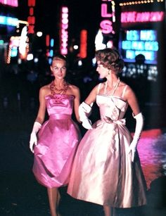 It's time to paint the town red~or pink... 1950s going to las Vegas ladies? - These are perfect, even the gloves!