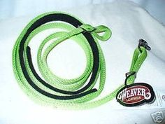 """Weaver Bright Lime Green Nylon Horse Tack Barrel Reins by Weaver Leather. $20.99. Weaver Bright Lime Green Nylon Horse Tack Barrel Reins : WEAVER LEATHER BRIGHT LIME NYLON ROPER BARREL REINS . for 2008 model. This is part of the Graphite Tack from Weaver Leather. ? You want eye-catching lime? This is it. ? Lined in the middle 30"""" with black felt for softness & great"""