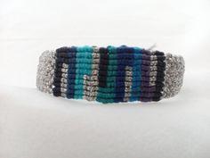 Macrame bracelet, Silver bracelet, Boho bracelet, Hipie bracelet, Macrame armlet, Boho armlet, Hipie armlet, Macrame wristlet, Boho wristlet by AnKaArts on Etsy
