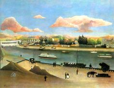 The Viaduct of Auteuil by Henri Rousseau (1844-1910)