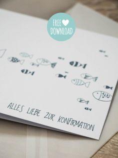 tolle Konfirmationskarte gratis zum downloaden Communion, Karten Diy, Blog Writing, Stamping Up, Free Printables, Presents, Gift Wrapping, Place Card Holders, Lettering