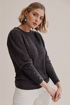 Shop Women's Knitwear at Country Road. All new season styles and colours are available in store and online now. Fit Back, Leopard Scarf, Crepe Top, Travel Wardrobe, Shoe Size Conversion, Slim Pants, Knit Cardigan, Knitwear, Pullover