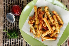 Dill Pickle French Fries are salty, tangy and bursting with dill flavor just like dill pickle chips! Apple cider vinegar gives these fries a tangy flavor and they are seasoned with fresh dill, garlic powder and mustard powder.
