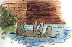 """""""Oh, Eeyore, you are wet!"""" said Piglet, feeling him. Eeyore shook himself, and asked somebody to explain to Piglet what happened when you had been inside a river for quite a long time. Winnie The Pooh Nursery, Winne The Pooh, Winnie The Pooh Quotes, Winnie The Pooh Friends, Eeyore, Tigger, Winnie The Pooh Classic, Hundred Acre Woods, Pooh Bear"""