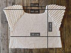Tops Tejidos A Crochet, Crochet Yoke, Crochet Cardigan, Crochet Summer Tops, Crochet Crop Top, Crochet Bikini, Crochet Designs, Crochet Patterns, Moda Crochet