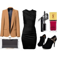 Black & Gold by timeandcouture on Polyvore