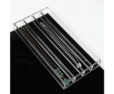 Jewelry Drawer Insert Necklace Organzier Clear Acrylic