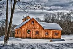 Sugar Shack by Fred LeBlanc Little Cottages, Cabins And Cottages, Log Cabins, Shed Homes, Log Homes, Sugar Bush, Barns Sheds, Sugaring, Barndominium