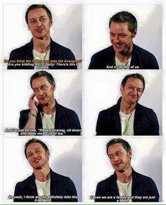 James McAvoy discusses X-Men vs Avengers.