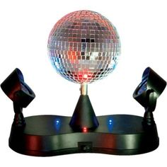 Disco Mirror Ball Party Light 9in - Party City