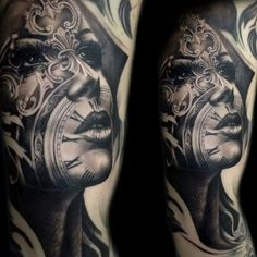 Tony Mancia's Tattoos, Striking Realistic And Surrealistic Ink Pieces With Arc. - Tony Mancia's Tattoos, Striking Realistic And Surrealistic Ink Pieces With Architectural Influenc - Face Tattoos, Badass Tattoos, Cover Up Tattoos, Arm Tattoos For Guys, Skull Tattoos, Forearm Tattoos, Body Art Tattoos, Taino Tattoos, Mayan Tattoos