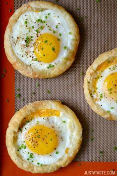 Cheesy Puff Pastry Baked Eggs | Just a Taste | Bloglovin'