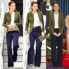 Best Garden Decorations Tips and Tricks You Need to Know - Modern Blue Trousers Outfit, Green Dress Outfit, Navy Dress Outfits, Navy Blue Dress Pants, Outfit Work, Green Cardigan, Work Attire, Work Outfits, Looks Kate Middleton