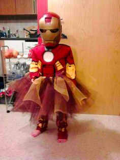 Iron Girl - perfect!! She's all about Iron Man & I was thinking of how to slightly girl-ify a costume...
