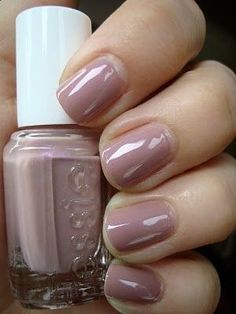 Essie Demure Vixen This is probably one of the only neutral colors I want. I'm not really into them but if I'd have to buy them, I'd buy them from Essie Cute Nails, Pretty Nails, Hair And Nails, My Nails, Fall Nails, Work Nails, Shiny Nails, Shellac Nails, Gel Nail