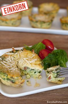 Spinach frittata recipes are delicious and you don't have to be on a low-carb diet to enjoy them! Try our favorite crustless spinach quiche made with einkorn flour and tell us what you think. You can also make this crustless spinach quiche using traditional AP flour.