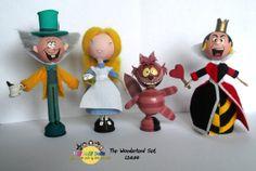 Alice In Wonderland Complete Peg Doll Playset