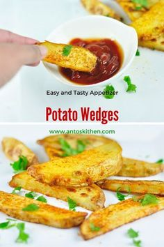 Spicy baked potato wedges. #antoskitchen #potato #wedges