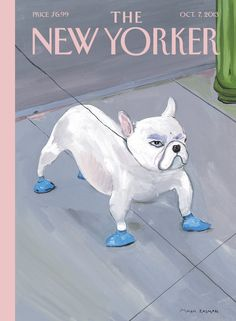 """The New Yorker - Monday, October 7, 2013 - Issue # 4515 - Vol. 89 - N° 31 - Cover """"Blue Dog"""" by Maira Kalman"""