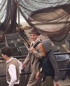 July 27: Mark Rylance & Barry Keoghan on Dunkirk set in Weymouth today! @moviedunkirk.instagram