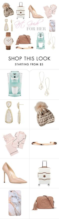 """""""Gift Guide for Her"""" by kerolayne-estler on Polyvore featuring Keurig, Kendra Scott, PBteen, Daniel Wellington, Jimmy Choo, Delsey and Gucci"""