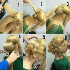Step by step updo