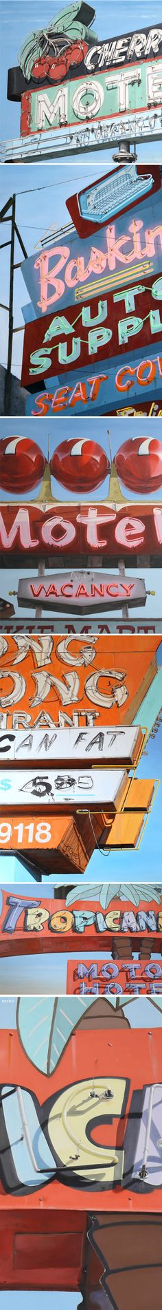 oil paintings (!?) by terry thompson #neon #signs