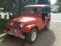 Willys CJ5 Red | eBay