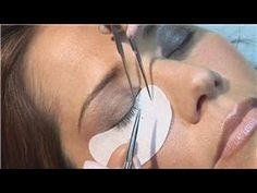 Eyelash Extensions & Health : How to Apply Permanent Lash Extensions - YouTube