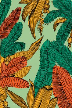 ideas plants illustration pattern texture for 2019 Design Textile, Textile Patterns, Print Patterns, Design Art, Textiles, Motif Floral, Arte Floral, Little Buddha, Leaf Illustration