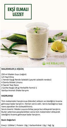 Herbalife Shake Tarifleri / Ekşi Elmalı Lezzet
