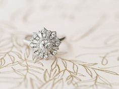 birth of Venus wedding inspiration engagement ring - photo by Morning Light by Michelle Landreau