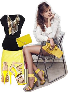 """""""Hello Yellow"""" by kitty1255 ❤ liked on Polyvore"""