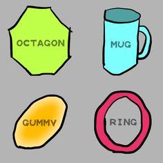 Octagon, Mug, Gummy, Ring / ハマグリ (八角形、マグカップ、グミ、リング(輪))