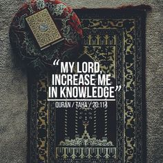Ya allah give me the knowledge to understand what's is good and what's bad and a knowledge to worship you..Ameen