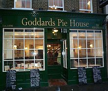 Goddard's Pie House in Greenwich - Pie and mash - Wikipedia Pie And Mash, Greenwich London, Pie Shop, London Restaurants, The Good Place, Traditional, Places, England, House