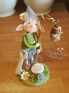 Polymer Clay Projects, Diy Clay, Clay Crafts, Biscuit, Pom Pom Crafts, Cute Clay, Fairy Dolls, Photo Art, Hobbit