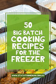 Did you know that we here at Stay at Home Mum have been Big Batch Cooking or Freezer Cooking for over ten years now – and we even have a published book about how to go about it!  But just as a snippet – here are 50 Big Batch Cooking Recipes for the Freezer – meals that you can cook, and freeze so that you have more time for you! Bulk Cooking, Batch Cooking, Freezer Cooking, Cooking Recipes, Freezable Meals, Make Ahead Freezer Meals, Savoury Mince, Hidden Veggies, Family Meals