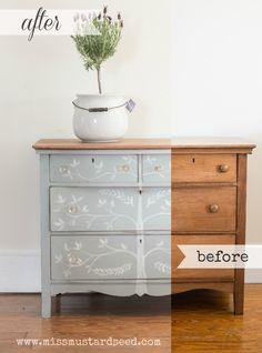 hand painted dresser | miss mustard seed