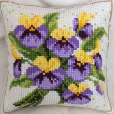 Viols tricolor cushion by Ravel