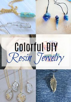 Diy Jewelry Colorful DIY Resin Jewelry via Old Jewelry, Simple Jewelry, Wire Jewelry, Jewelry Crafts, Handmade Jewelry, Jewelry Making, Jewelry Ideas, Recycled Jewelry, Vintage Jewelry